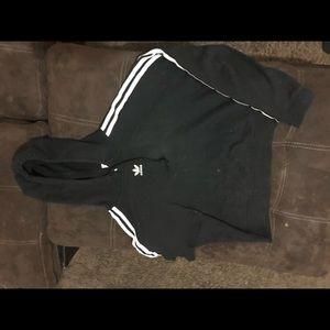 Adida crop too hoodie